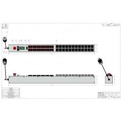 0U MIL SPEC PDU, 30A, L5-30P Input, 24 x MS3102E16-10S, TAA Compliant