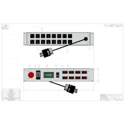 2U MIL SPEC PDU, 30A, L5-30P Input, 16 x MS3102E16-10S, TAA Compliant