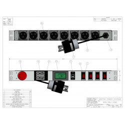 1U MIL SPEC PDU, 30A, L6-30P Input, 8 x MS3102E16-10S, TAA Compliant